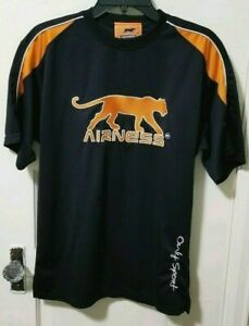 Mens KONE MAFAMINE AIRNESS Only Sport Panther Shirt Top Small Black & Orange