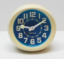 Vintage Westclox 60's 70's Art Deco Alarm Clock Atomic Space Age Retro AS-IS