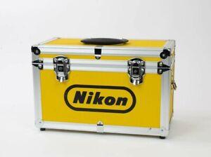 Rare Nikon Vintage Aluminium Hard Case with Accessory Pouch