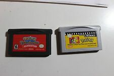 Nintendo Game boy Advance lot of 2 Games Pokemon Mystery Dungeon and Video