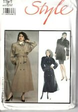 Style Sewing Pattern Trench Coats Wrap Jackets S 10-12 M 14-16 Vintage 1191