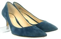 Vince Camuto Vivienne Pump Womens 8.5 M Blue Suede Pointed Toe Slip On Heel Shoe