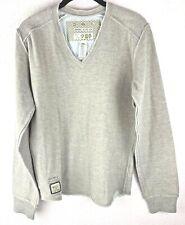 Diesel Wild Angels Sz M Mens 2 Layer Wool/Cotton Long Sleeve V Neck Top