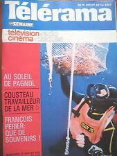 1332 J.-Y. COUSTEAU MARCEL PAGNOL FRANCOIS PERIER FEDERICO FELLINI TELERAMA 1975