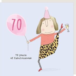 Rosie Made A Thing Fabulousness Female 70th Birthday Card Greeting Cards