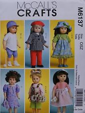"McCall's 6137 Sewing PATTERN for 18"" DOLL CLOTHES fits American Girl Dolls NEW"