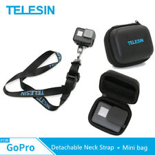 TELESIN Detachable Neck Strap Lanyard + Mini bag Case For Gopro DJI Osmo Action
