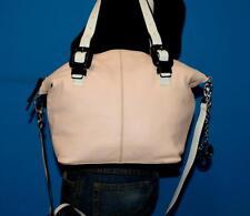 CHARLES JOURDAN 'JINX' Pink Leather Satchel Medium Tote Purse Shoulder Bag $375