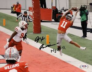 Jaxon Smith Njigba Signed Autographed Ohio State Buckeyes 8x10 Photo PSA/DNA