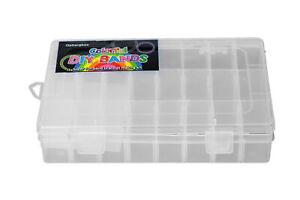 24 Fächer Sortimentskasten, Sortierbox, Kleinteilebox 19,6x14,2cm transparent