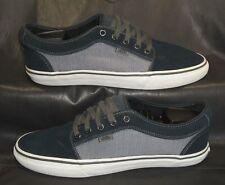 VANS black & gray fabric oxfords lace-ups Men's shoes size US 10