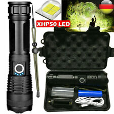 Super hell 990000LM Taschenlampe LED XHP50 USB Taktisches Fackel+18650 Batterie