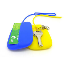 Key Chain Hasp Style Silicone Pouch Card Bag Case Gift Key Holder UK