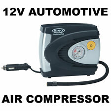 Ring RAC610 12v Analogue Air Compressor Wheel Tyre Inflator Pump PSI & BAR NEW