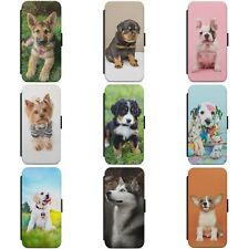 CUTE DOG PUPPY DOGS ANIMAL WALLET FLIP PHONE CASE COVER FOR IPHONE