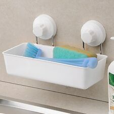 Twist And Lock Bath Storage Shelf White Rack Caddy Kitchen Home Organiser Holder
