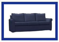 Pottery Barn Sofa Slipcover For CAMERON ROLL ARM SLEEPER SOFA /Navy Perf Twd New