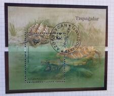 1995 AZERBAIJAN TURTLES & TORTISES MINI SHEET CTO USED STAMP