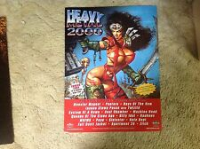 RARE CD HEAVY METAL 2000 PROMO Poster 24x18apx  film album music rock! !
