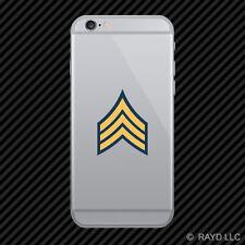 Blue Uniform Army Rank Sergeant Cell Phone Sticker Mobile Die Cut SGT