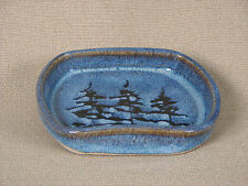 "potterybydave - Soap Dish in ""Pine Trees"" design"