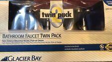 Glacier Bay Bathroom Faucet Twin Pack - Series 100b 526-022g Nickel NOS