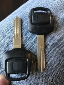 (Pair 2x) Transponder Ignition Uncut Blank Key for Nissan & Infiniti N102T