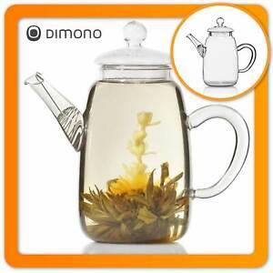 Teekanne Dimono® aus Borosilikat-Glas mit Teesieb Glaskanne Teebereiter & Deckel