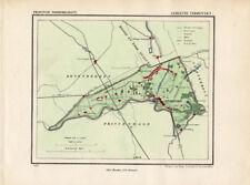 ANTIQUE MAP-NETHERLANDS-TERHEYDEN-NOORD BRABANT-KUYPER-1865