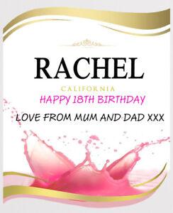 PERSONALISED ECHO FALL ROSE WINE BOTTLE LABEL - PARTY / BIRTHDAY / WEDDING