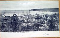 1906 Port Jefferson, Long Island, NY Postcard: Village & Harbor - New York
