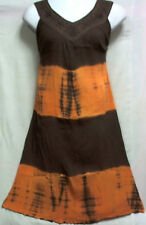 New Women's Long Sundress Sun dress Summer Maxi A-line Brown Mustard Free Size