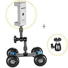 New Neewer Mini Ball Head Lock Hot Shoe Adapter Camera Cradle + phone adapter