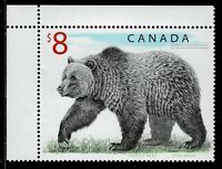 Canada #1694(2) 1997 $8.00 multi WILDLIFE - GRIZZLY BEAR Upper Left MNH
