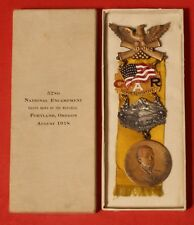 1918 52nd NATIONAL ENCAMPMENT Rare GAR MEDAL with ORIG BOX - EXCELLENT CONDITION