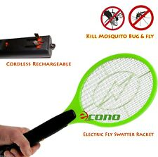 Lot of 4 Rechargeable Battery Bug Zapper Mosquito Insect Fly Swatter Racket Big