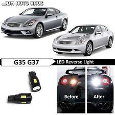 White High Power Reverse Backup LED Lights Bulb Fits Infiniti G35 G37 2003-2013