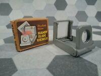 """Folding Pocket 2x2"""" Slide Viewer Natural Light 7x7cm Slides Vintage"""
