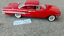 Franklin Mint 1960 Chevrolet Impala HT Sport Coupe-RARE RED HOLY GRAIL MIB 1:24