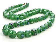 "Eye Glass Necklace 27 1/2"" Antique Venetian Or Bohemian Rainbow Foil"