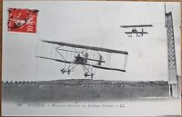 Biplane/Airplane Farman, Weyman & Martinet 1910 French Aviation Postcard