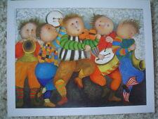 """GRACIELA RODO BOULANGER - Large Vintage Postcard """"La Fete de la Musique"""""""
