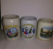 Vintage Beer Mugs Stoneware Germany Pottery Lot