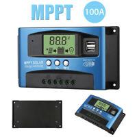 12V/24V MPPT Solar Panel Regulator Charge Controller Auto Focus Tracking 30-100A