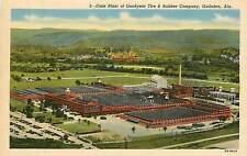 Alabama, AL, Gadsden, Goodyear Tire & Rubber Co Linen Postcard