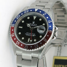 Rolex GMT Master II Black Dial Pepsi Bezel Stainless Steel 16710