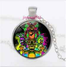 Five Nights at Freddy's Cabochon Glass silver necklace for women men Jewelry