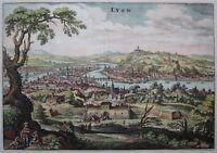 Lyon - Merian 1645 - Originaler Kupferstich - Original engraving