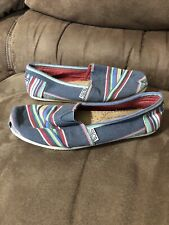Women's Size 6.5 Bobs From Skechers  100% Leather Insole Slip On Shoes