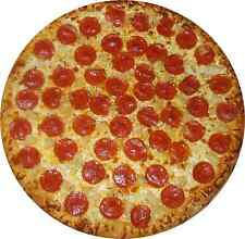 "2 24"" PEPPERONI PIZZA Huge Decal Sticker set for Delivery Shop Window Car Sign"